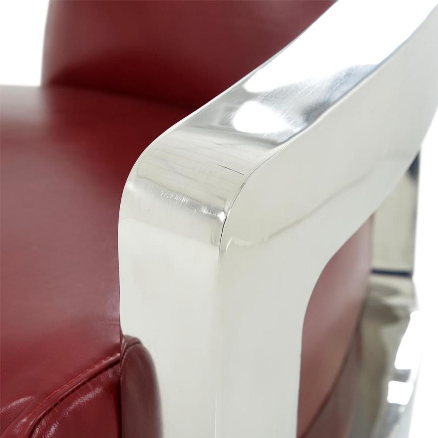 Aviator II Red Leather Accent Chair  alternate image, 8 of 8 images.