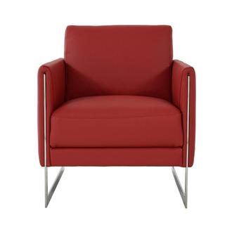 Coco Red Leather Accent Chair