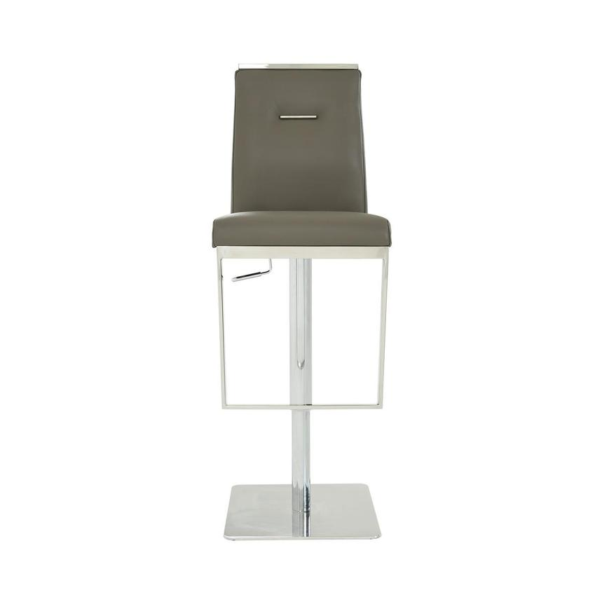 Hyde II Gray Leather Adjustable Stool  main image, 1 of 8 images.