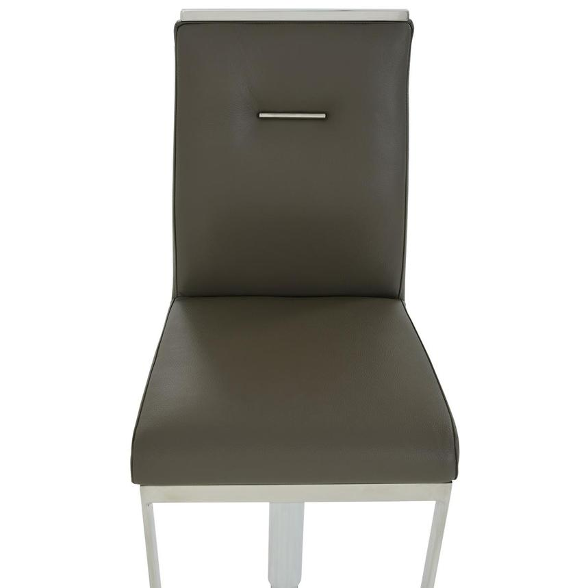 Hyde II Gray Leather Adjustable Stool  alternate image, 6 of 8 images.