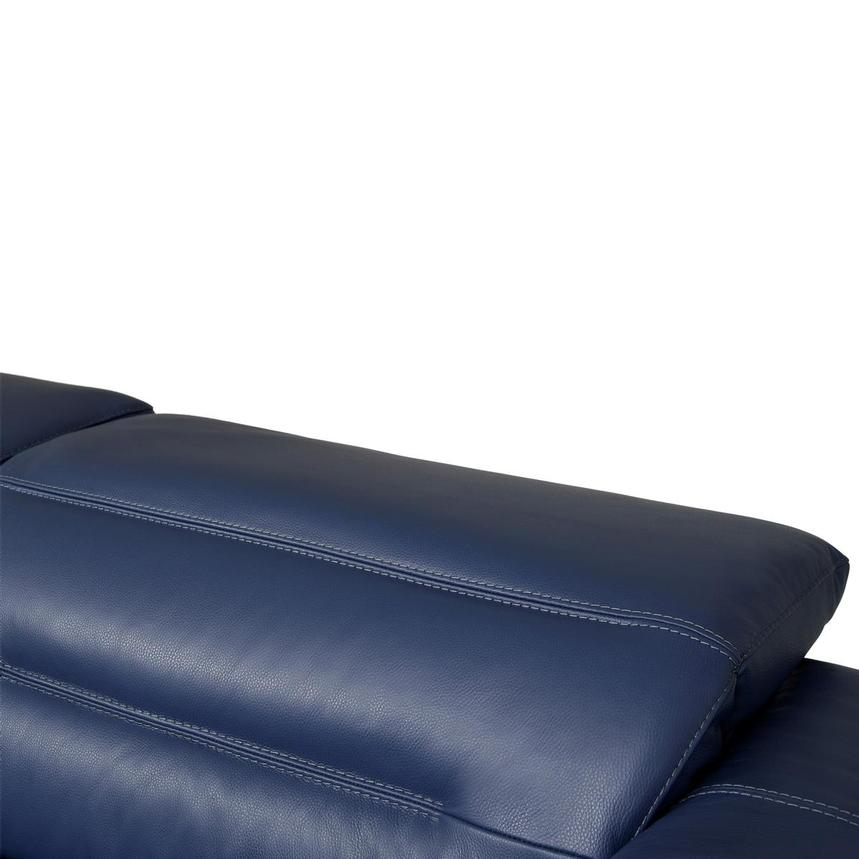 Anabel Blue Leather Power Reclining Sofa  alternate image, 7 of 10 images.