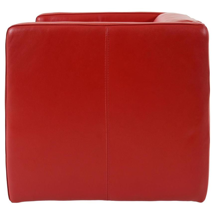 Cute Red Leather Swivel Chair  alternate image, 3 of 8 images.