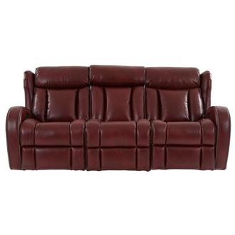 Pronto Red Power Reclining Sofa