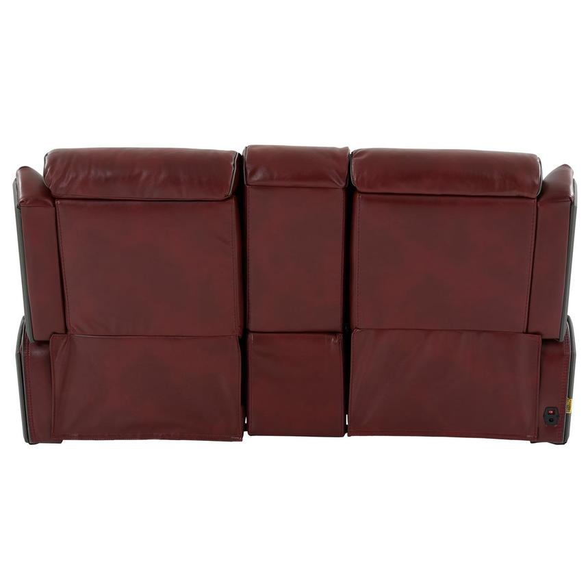 Pronto Red Power Reclining Sofa w/Console  alternate image, 5 of 12 images.