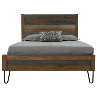 Sandy Gray Queen Panel Bed