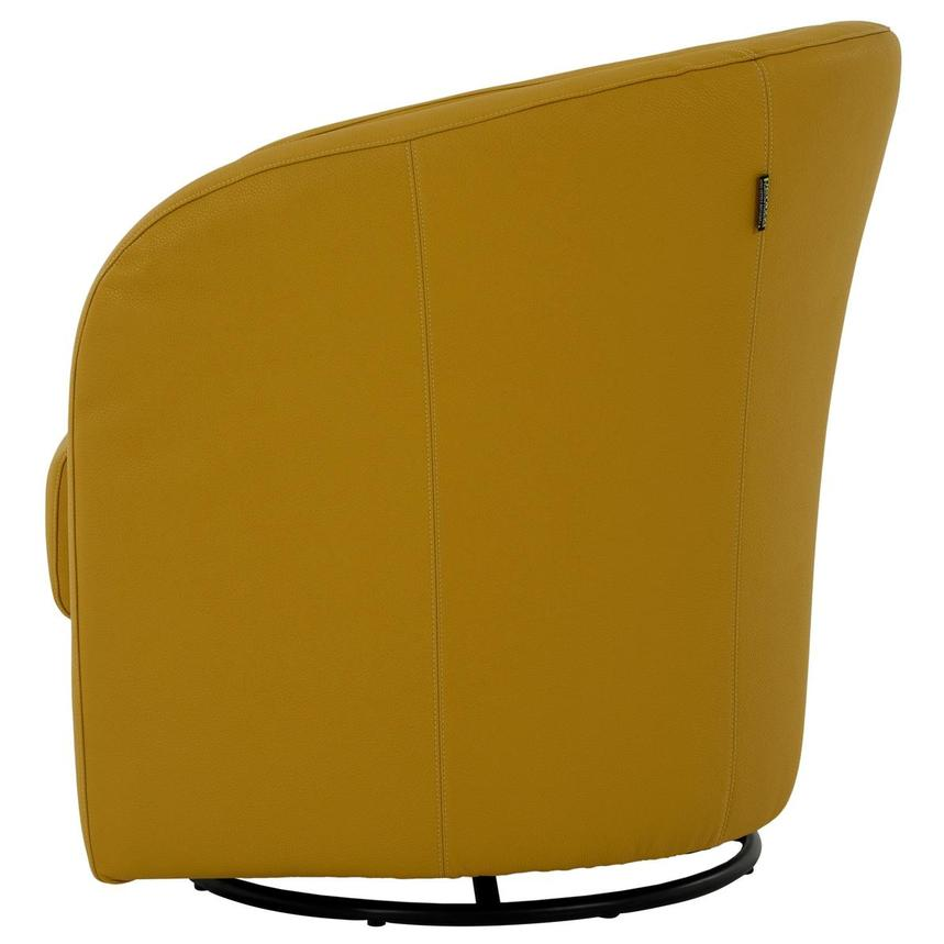 Delia Yellow Swivel Accent Chair  alternate image, 3 of 7 images.