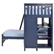 Haus Blue Twin Over Twin Bunk Bed w/Desk & Chest  alternate image, 5 of 12 images.