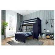 Haus Blue Twin Over Twin Bunk Bed w/Desk  alternate image, 2 of 10 images.