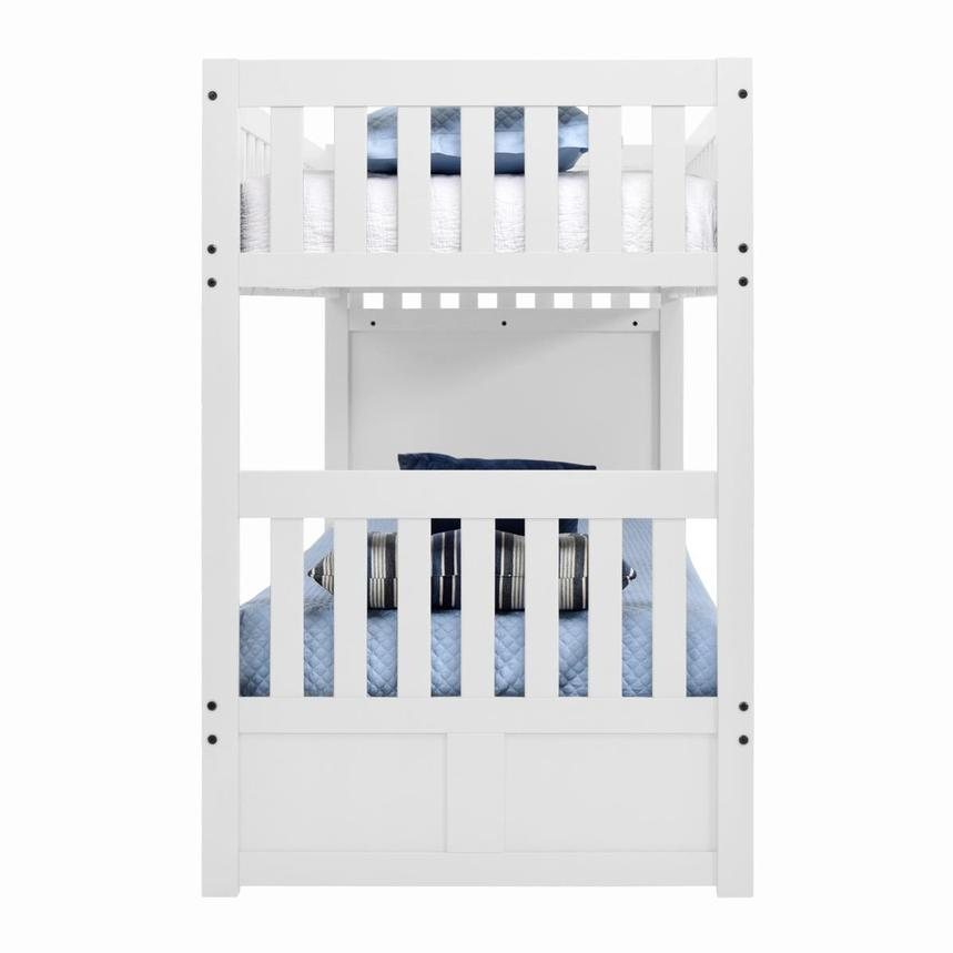 Balto White Twin Over Twin Bunk Bed w/Storage  alternate image, 3 of 5 images.