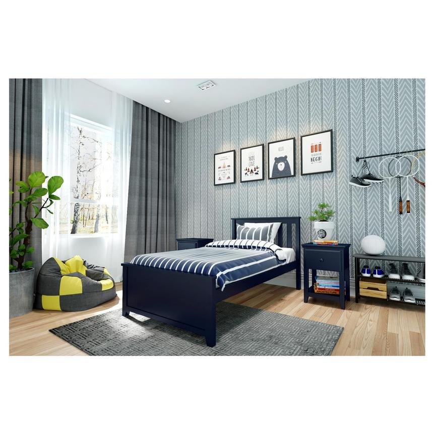 Haus Blue Twin Panel Bed  alternate image, 2 of 6 images.