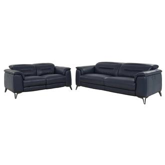 Anabel Blue Living Room Set
