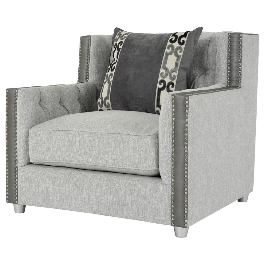 Sonia Gray Accent Chair  alternate image, 3 of 8 images.