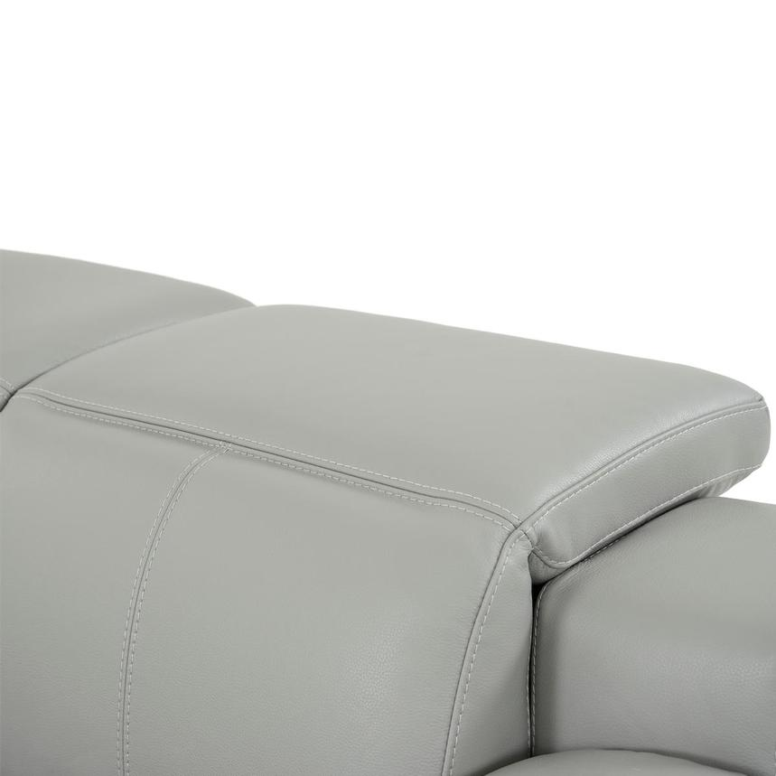 Davis 2.0 Light Gray Leather Power Reclining Loveseat  alternate image, 7 of 10 images.