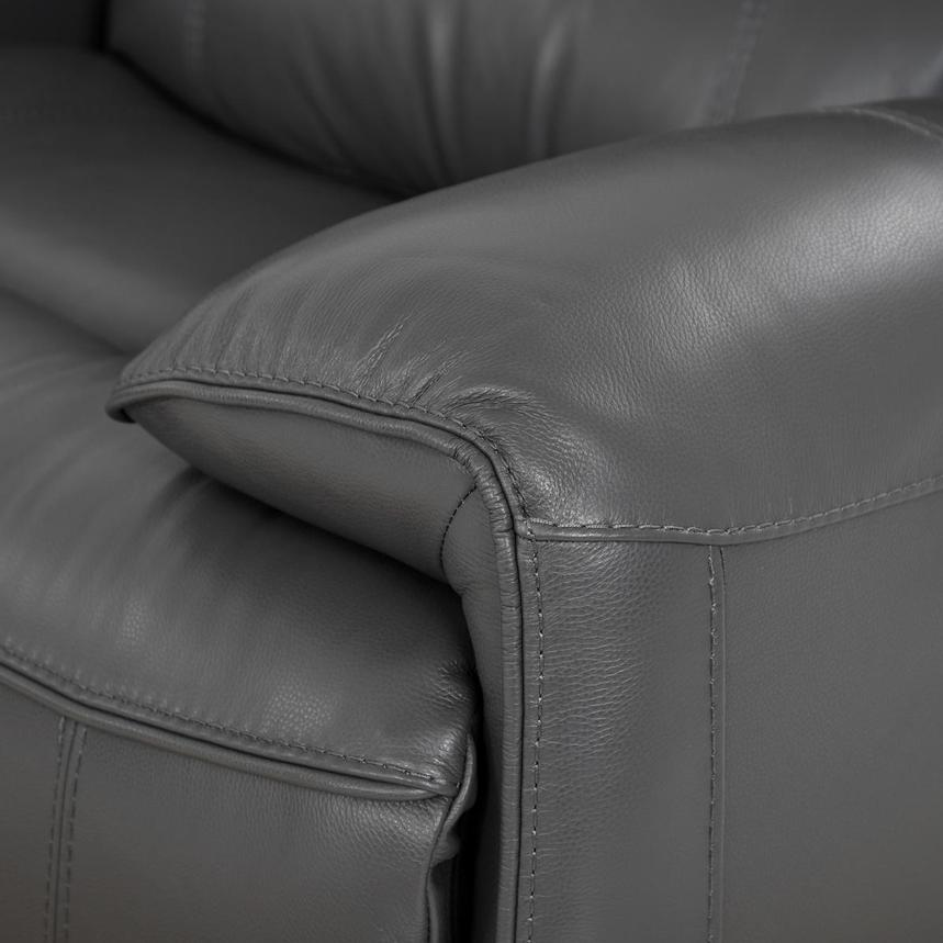 Cody Gray Leather Power Reclining Sectional  alternate image, 7 of 10 images.