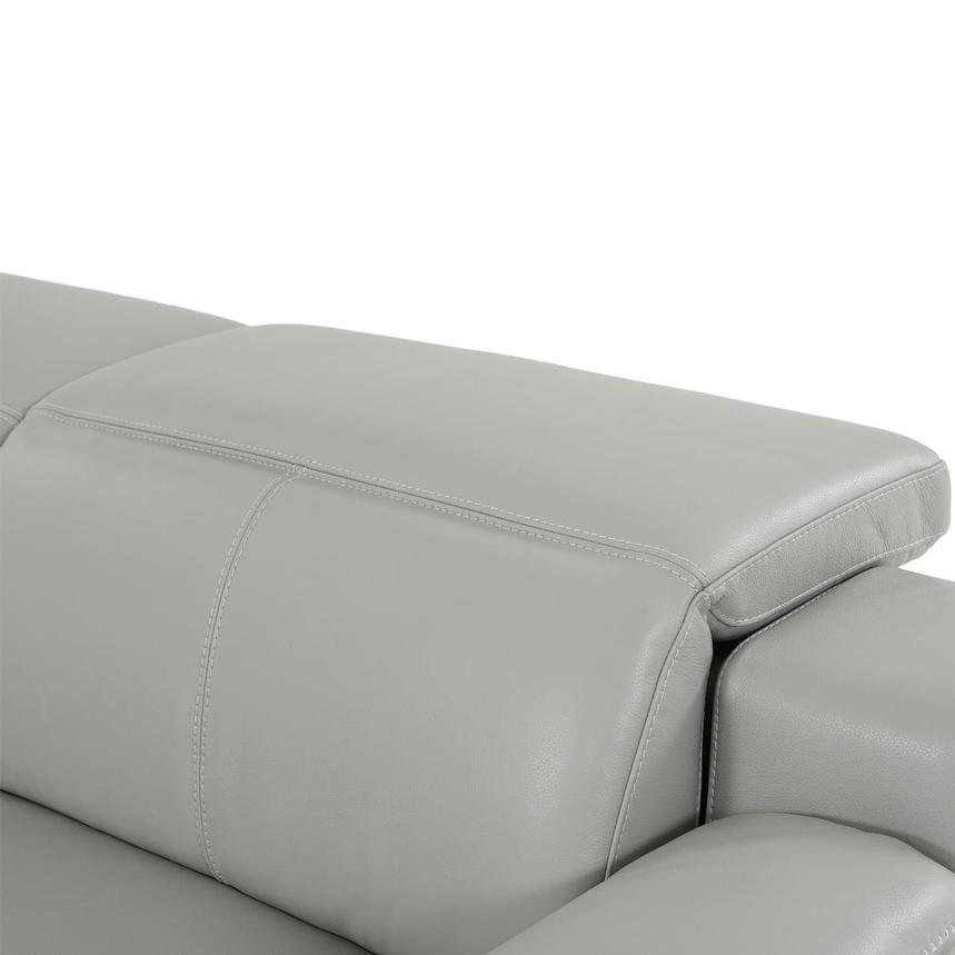 Davis 2.0 Light Gray Leather Power Reclining Sofa  alternate image, 7 of 9 images.