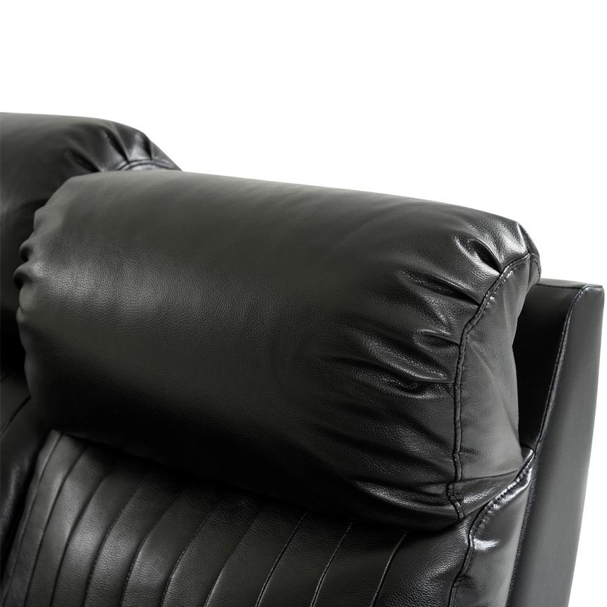 Obsidian Leather Power Reclining Sofa w/Massage & Heat  alternate image, 6 of 16 images.