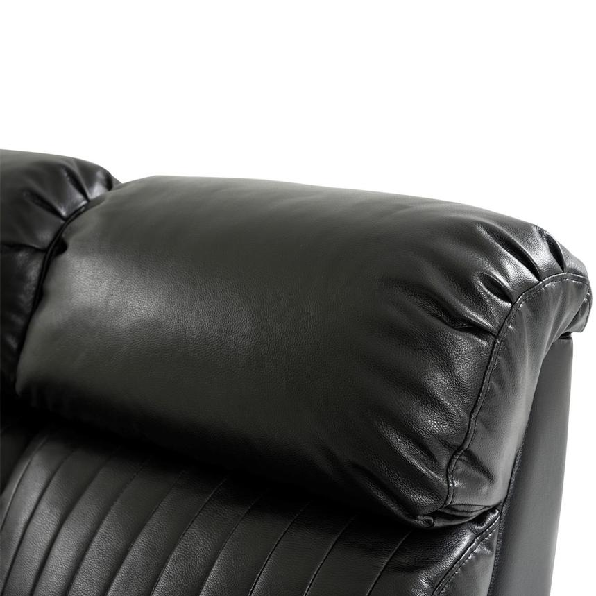 Obsidian Leather Power Reclining Sofa w/Massage & Heat  alternate image, 7 of 15 images.