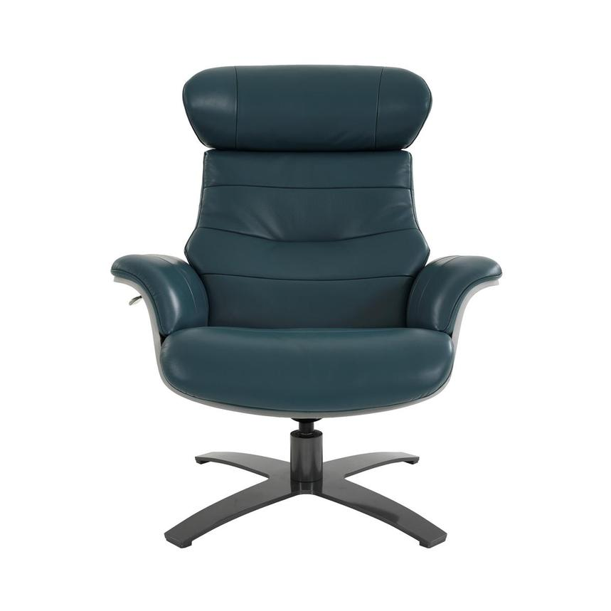 Enzo Green Leather Swivel Chair  main image, 1 of 12 images.