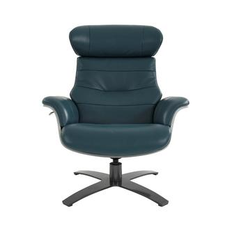 Enzo Green Leather Swivel Chair