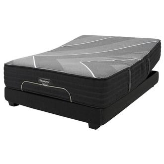BRB-X-Class Hybrid Med. Firm Queen Mattress w/Beautyrest® Black Luxury Powered Base by Simmons
