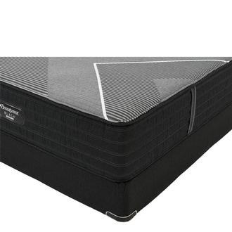BRB-X-Class Hybrid Med. Firm Queen Mattress w/Low Foundation by Simmons Beautyrest Black Hybrid
