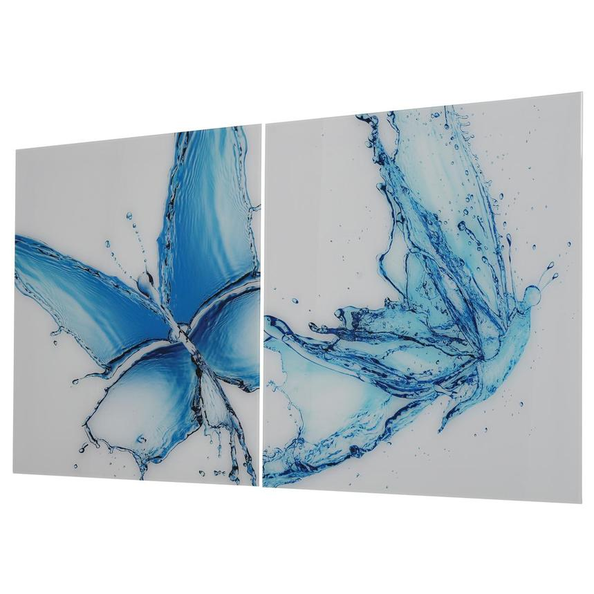 Papillon Bleu Set of 2 Acrylic Wall Art  alternate image, 2 of 4 images.