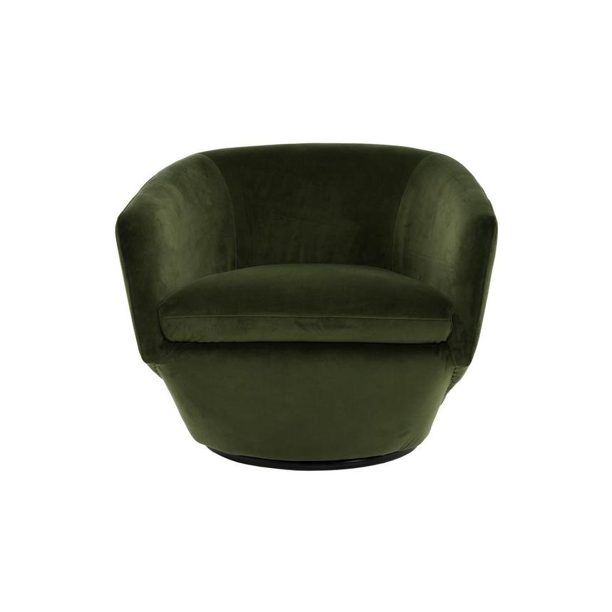 Andy Green Swivel Accent Chair w/2 Pillows  alternate image, 2 of 10 images.