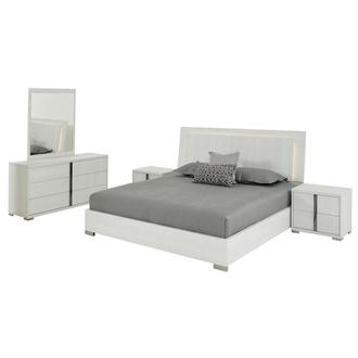 Tivo White 5-Piece Queen Bedroom Set
