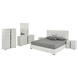 Tivo White 6-Piece Queen Bedroom Set Made in Italy