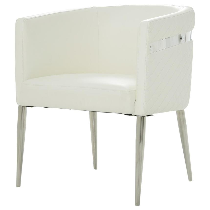 Anastasia White Accent Chair  alternate image, 2 of 7 images.