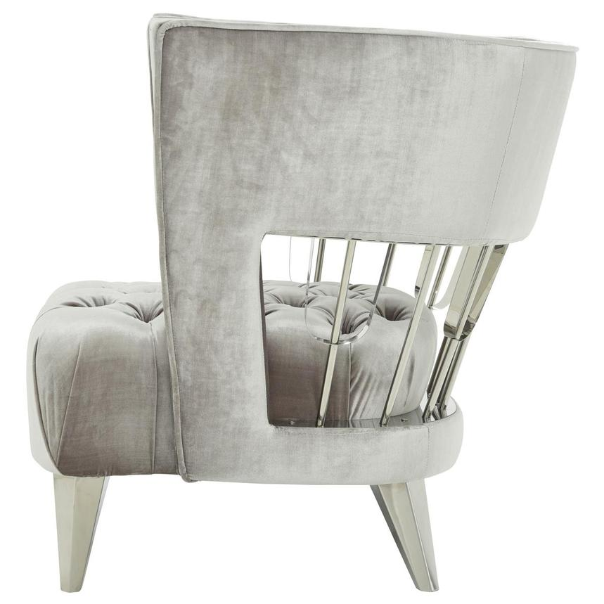 Brody Gray Accent Chair  alternate image, 3 of 9 images.