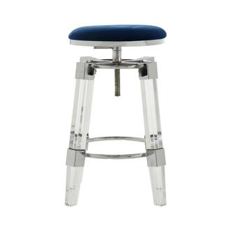 Julie Blue Adjustable Stool