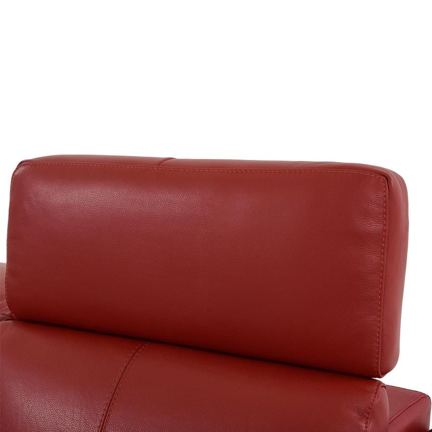 Charlie Red Leather Power Reclining Loveseat  alternate image, 7 of 12 images.