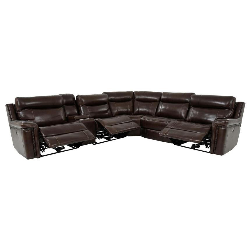 Billy Joe Leather Power Reclining Sectional  alternate image, 3 of 12 images.