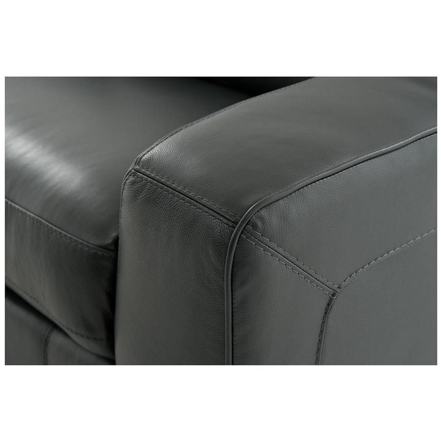 Jay Dark Gray Leather Power Reclining Sectional  alternate image, 7 of 10 images.