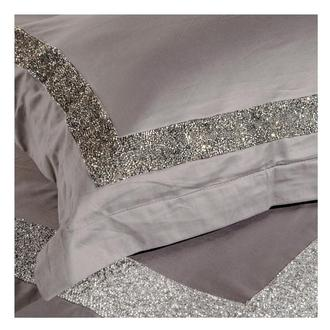 Ava Light Gray Queen Duvet Cover Set