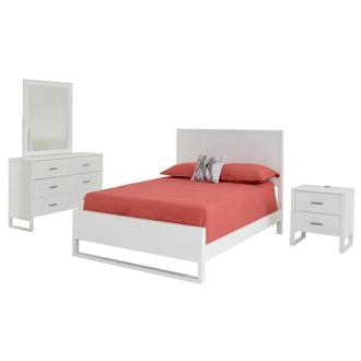 Mira White 4-Piece Full Bedroom Set