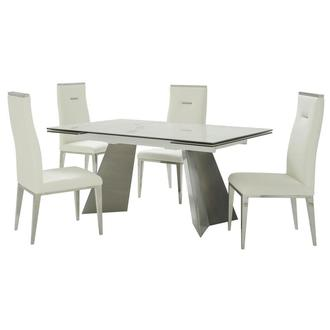 Imperium/Hyde I White 5-Piece Dining Set