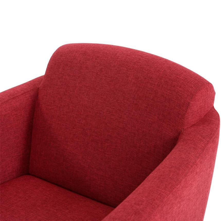 Haisley Red Accent Chair w/Ottoman  alternate image, 7 of 15 images.