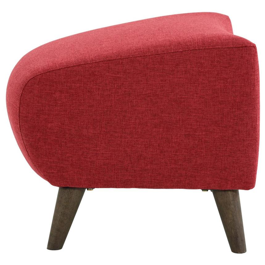 Haisley Red Accent Chair w/Ottoman  alternate image, 12 of 15 images.