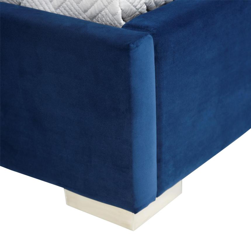 Livia Blue Queen Platform Bed  alternate image, 8 of 8 images.