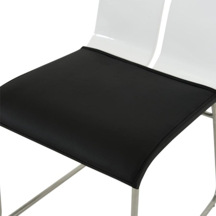 Valencia White Black Side Chair El Dorado Furniture