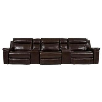 Billy Joe Home Theater Leather Seating