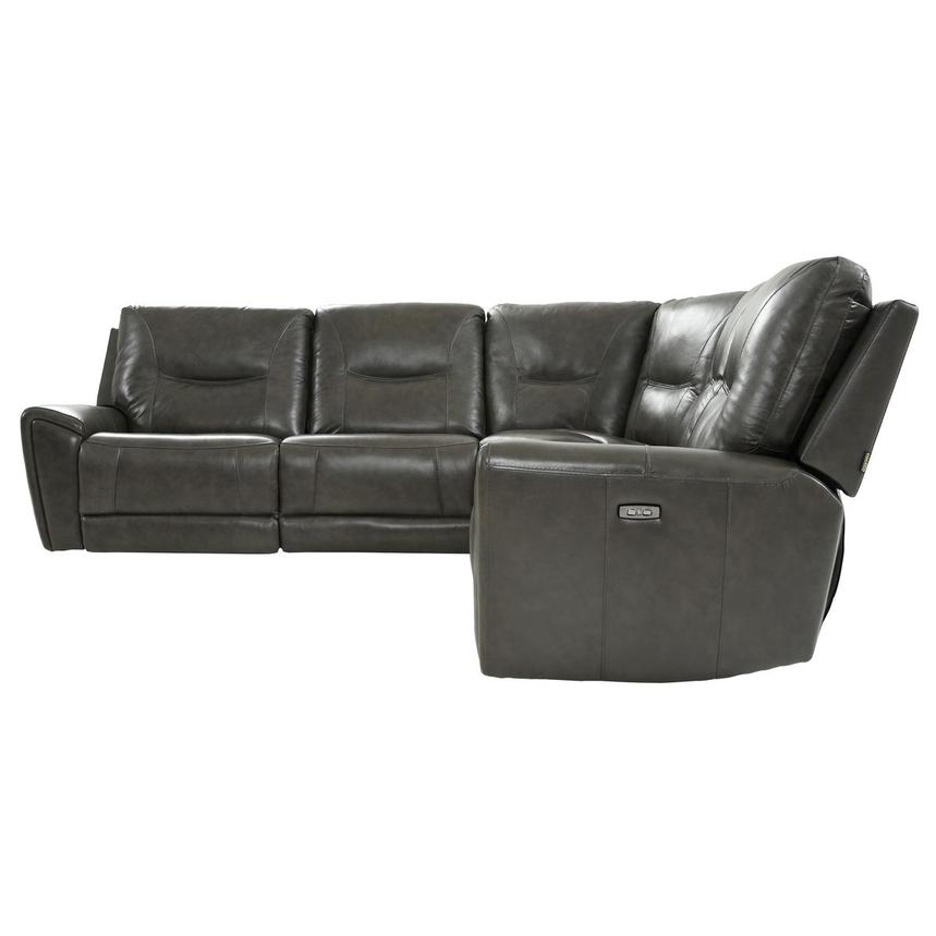 London Leather Power Reclining Sectional  alternate image, 3 of 9 images.