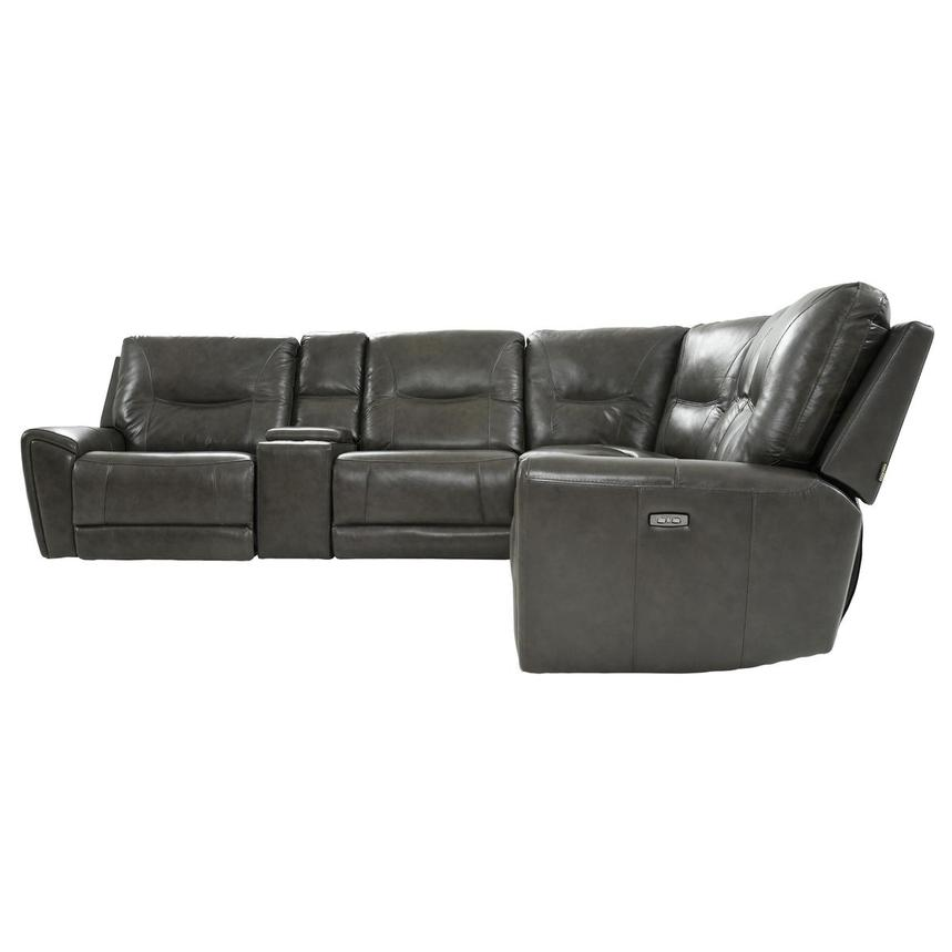 London Leather Power Reclining Sectional  alternate image, 3 of 11 images.