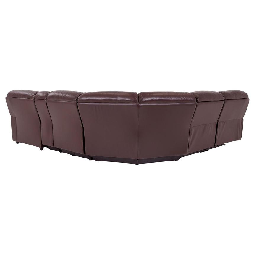 Napa Burgundy Leather Power Reclining Sectional w/Right Chaise  alternate image, 4 of 9 images.