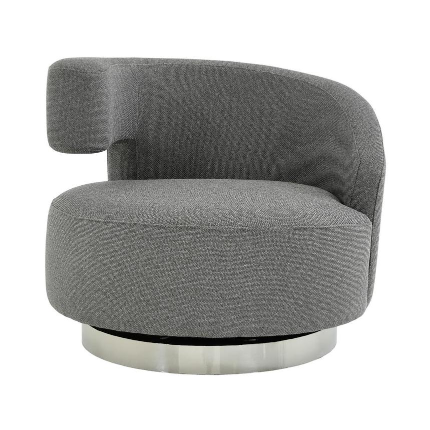 Okru Dark Gray Swivel Chair  main image, 1 of 7 images.