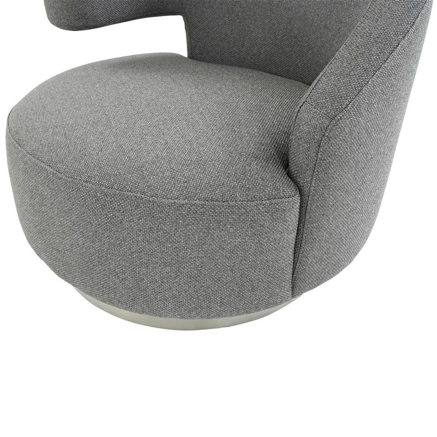 Okru Dark Gray Swivel Chair  alternate image, 6 of 7 images.