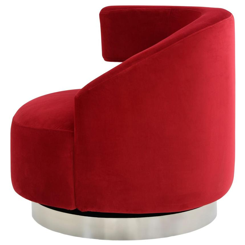 Okru Red Swivel Chair  alternate image, 3 of 7 images.