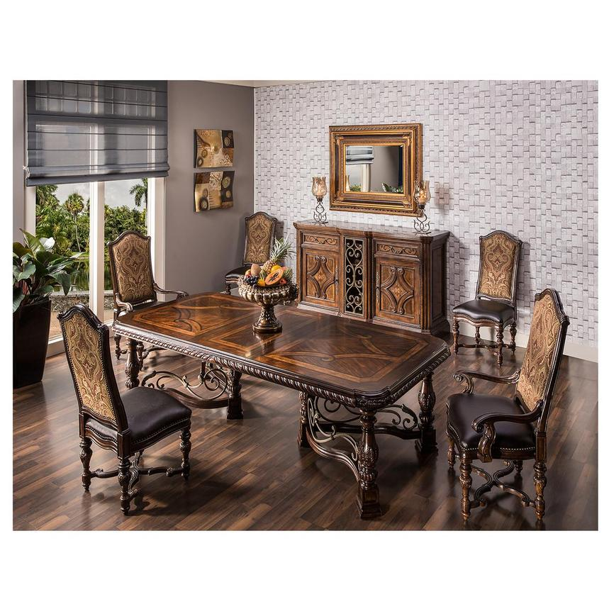 Opulent Extendable Dining Table  alternate image, 2 of 9 images.